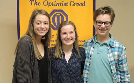 Students Share Winning Essays in Optimist Club Contest