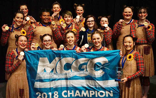 CHS Winter Guard Wins State Championship