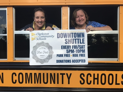Clarkston Community Schools and Community Partners Provide Free Downtown Shuttle Service