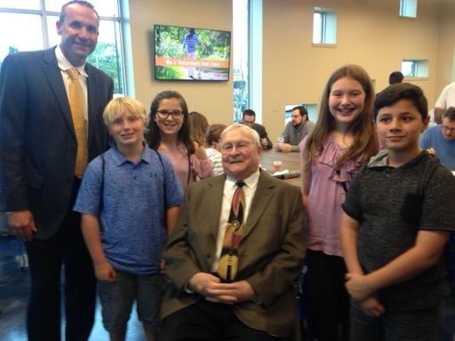 Bailey Lake Principal, Students Honored Guests at Ribbon Cutting