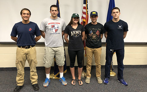 CHS Holds First-Ever Military Signing Day