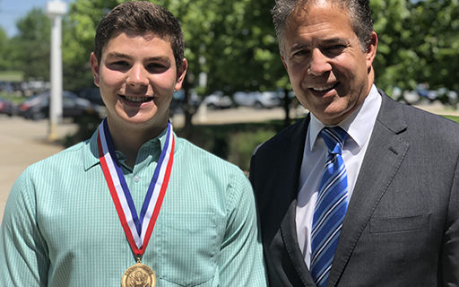 CHS Senior Awarded Congressional Medal of Merit for Outstanding Youth Leadership
