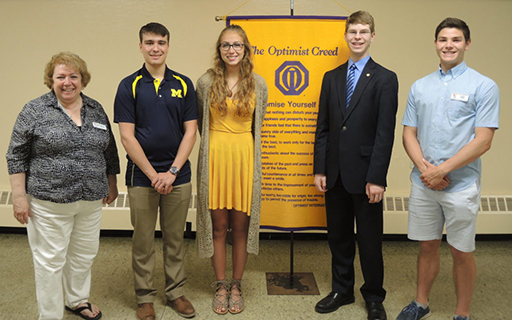 CHS Seniors Earn Optimist Club Scholarships