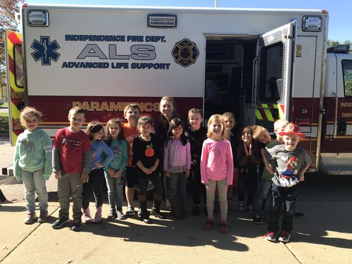 Pine Knob Kindergarteners Learn about Fire Safety