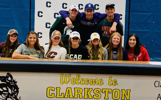 Wolves Commit to Collegiate Sports at Fall Signing