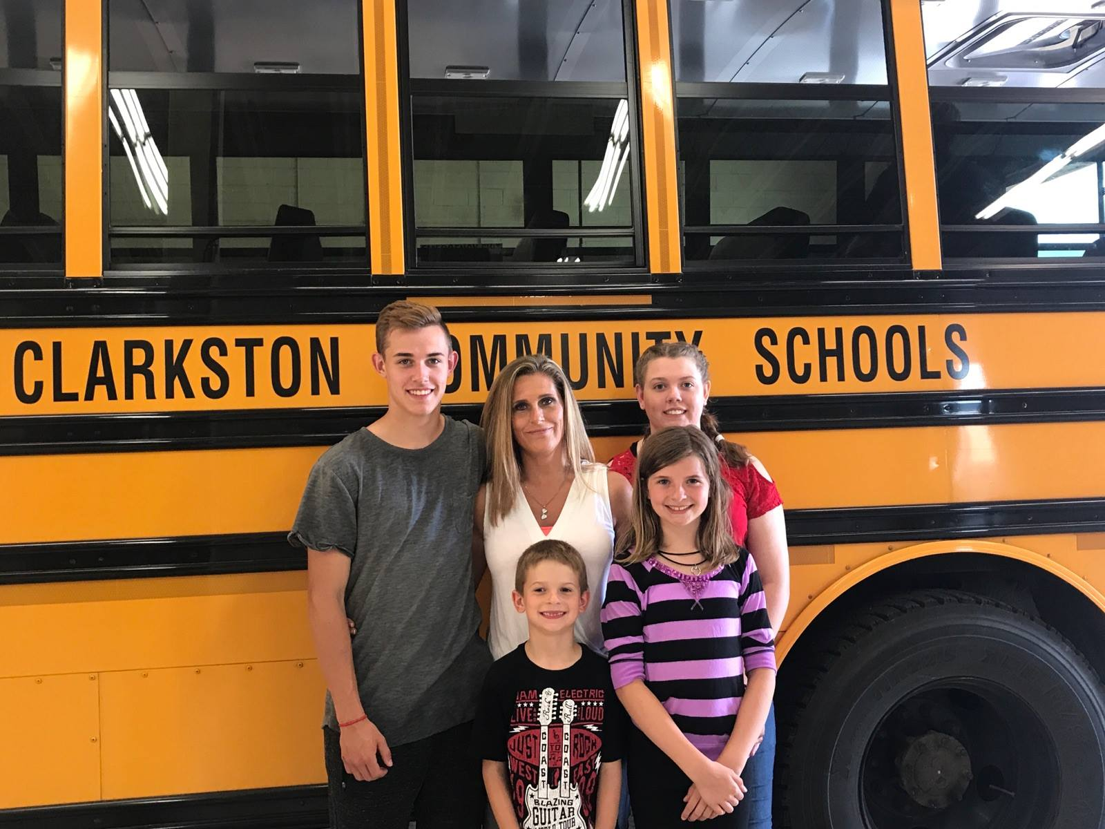 A Clarkston Bus Driver with her Family