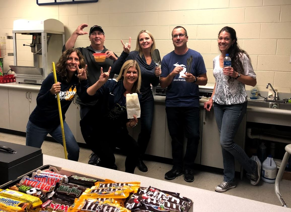 Boosters working in the concession stand