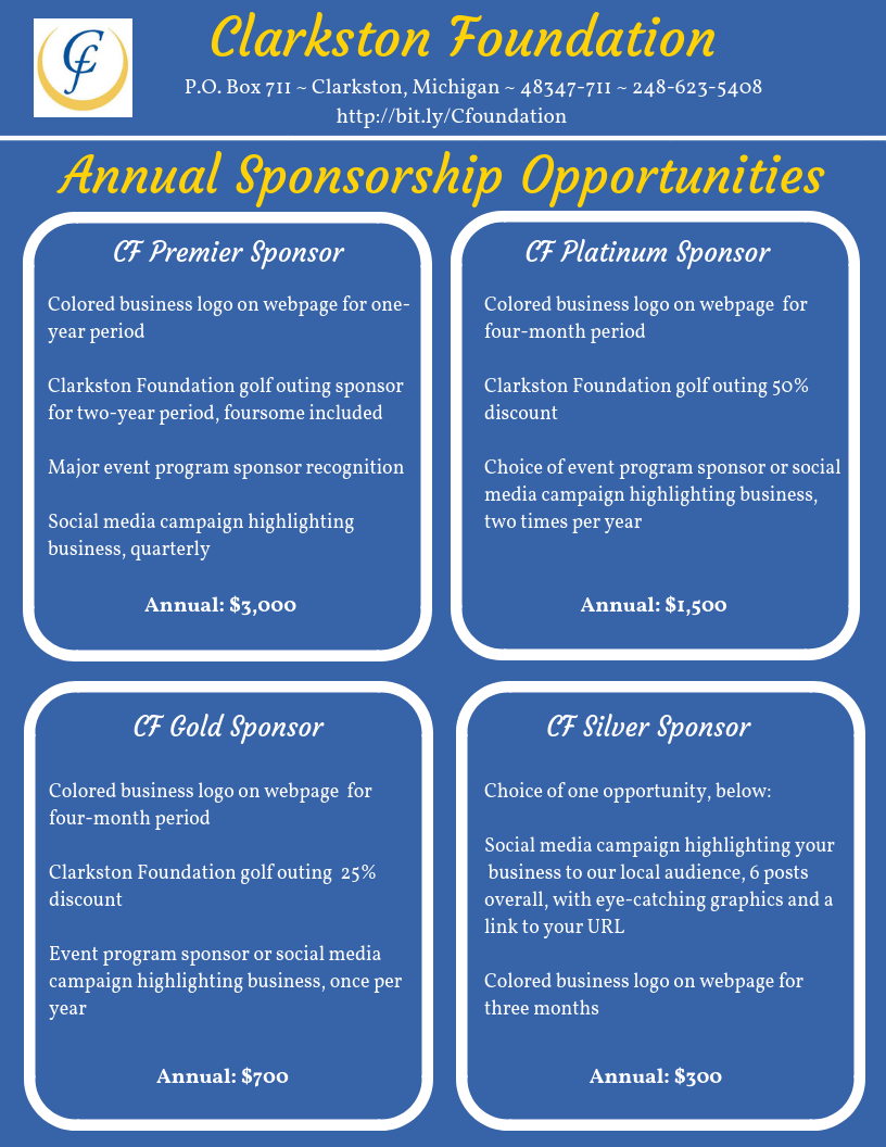 Annual Sponsorship Opportunities