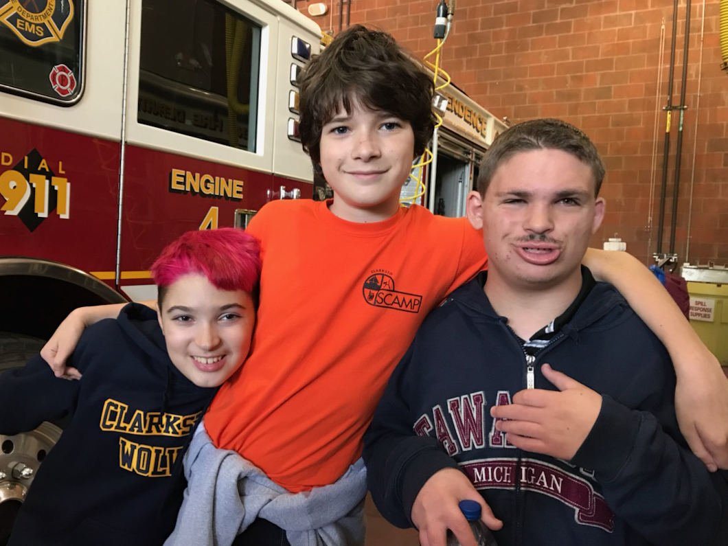 Students take a field trip to the Fire Dept.